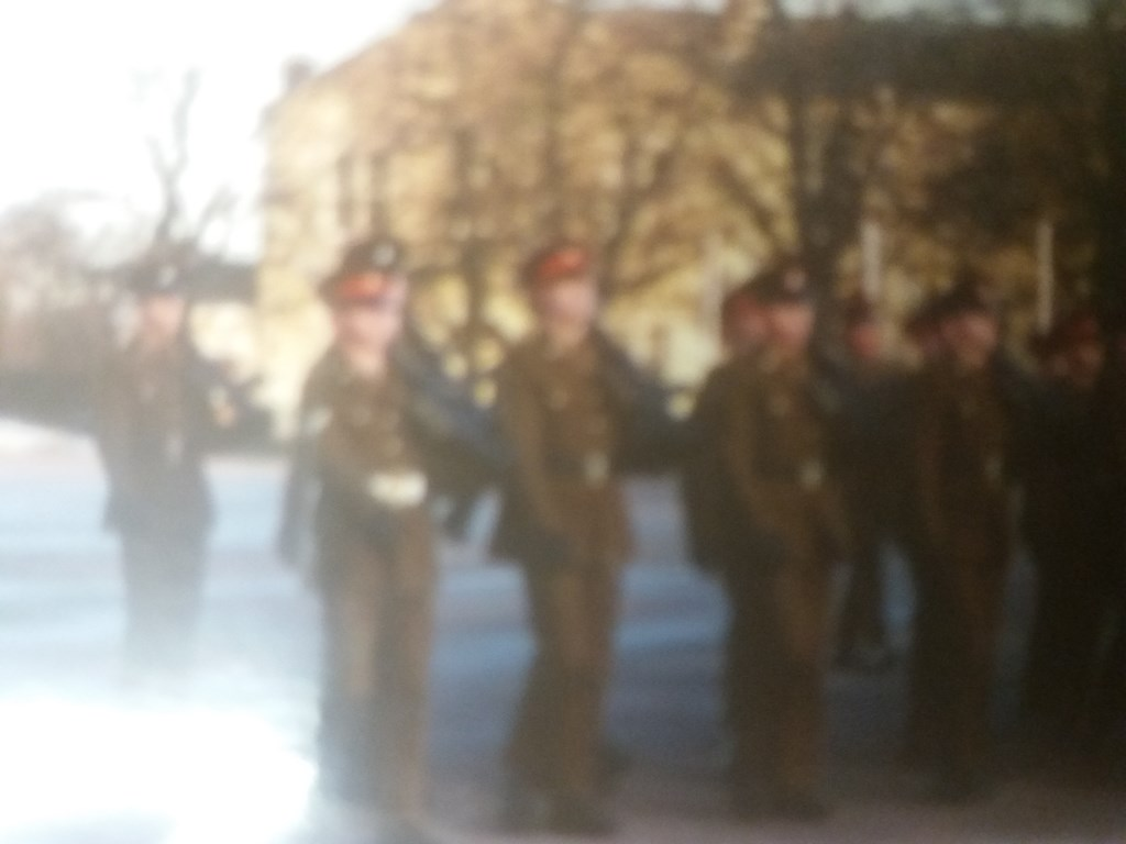 Leading a platoon that I had trained on their passing out parade.